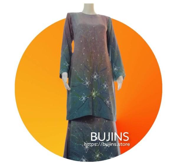 Cotton Batik Baju Kurung Classic Floral Design (S) - BUJINS