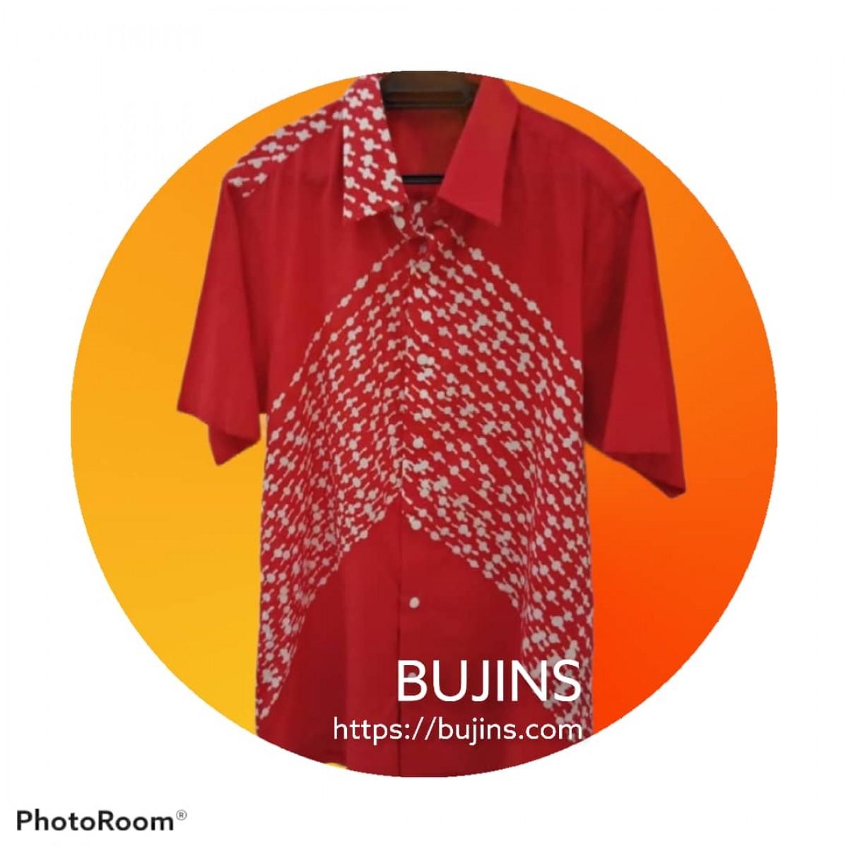 Men's Short Sleeves Cotton Batik Tuah Design (S) - BUJINS