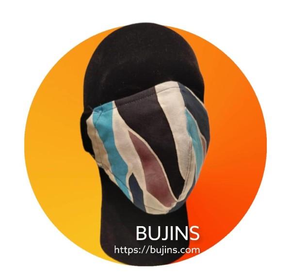 2 LAYERS COTTON BATIK FACE MASK - CAMOUFLAGE - BUJINS Batik