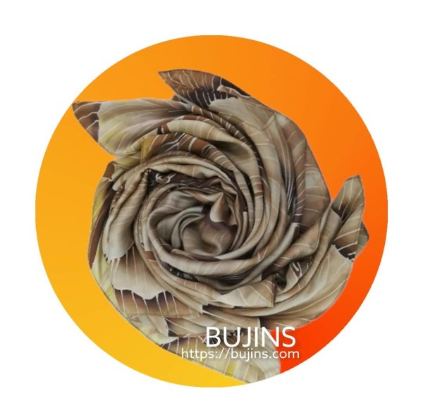 100% Pure Silk Batik Scarf  - Martha Sequioa - BUJINS