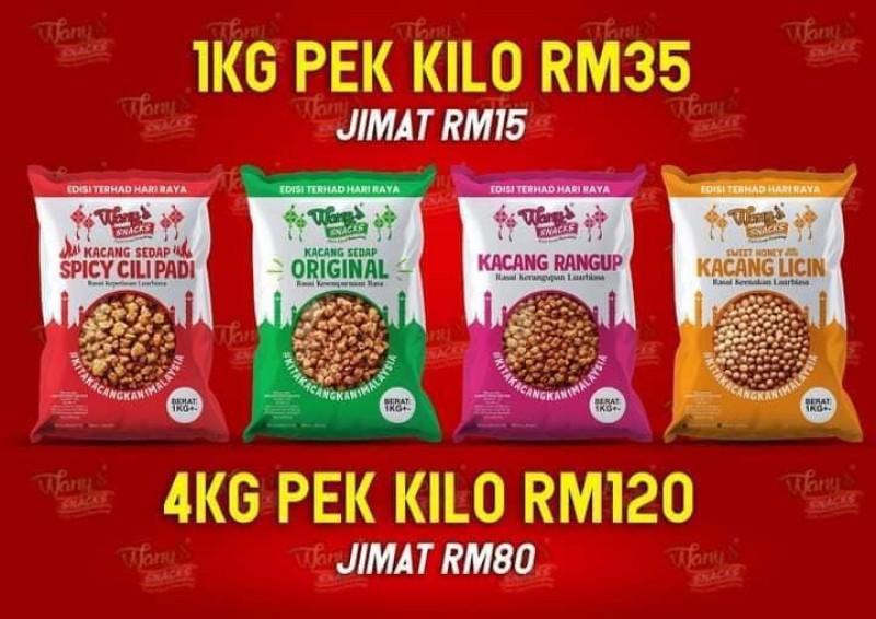 Kacang Wany(Pek 1kg) COMBO 4 in 1