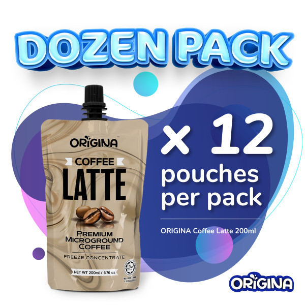 ORIGINA COFFE LATTE 200ml - (12 pcs/ packs) - ORIGINA