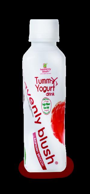 Heavenly Blush Tummy Yogurt Drink Rasberry Broccoli