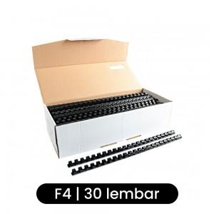 Joyko Spiral Plastik RPC-23-6 F4 23 Lubang (6 mm) - Hitam - Toko Online Mesin Jilid, Laminating, Pemotong kertas