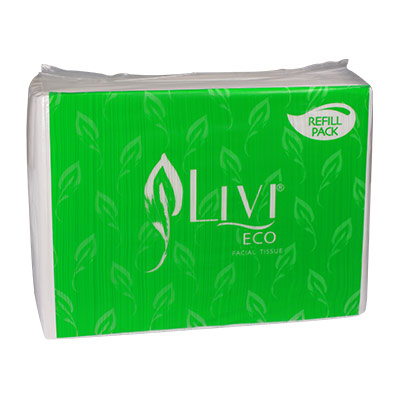 Tissue Facial Wajah LIVI Eco REFILL isi 600 lembar (2ply)
