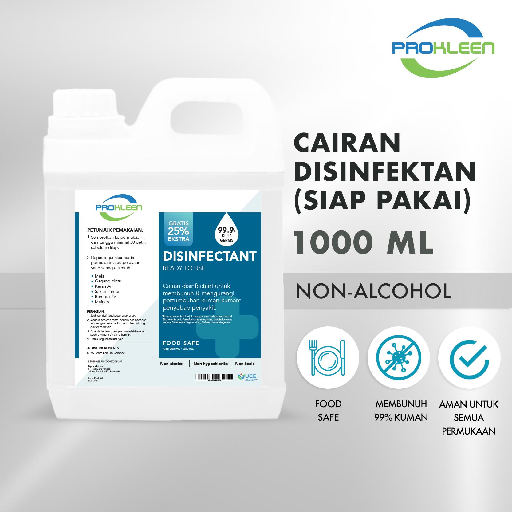 Disinfectant Antiseptik Ready To Use Cairan Desinfektan PROKLEEN