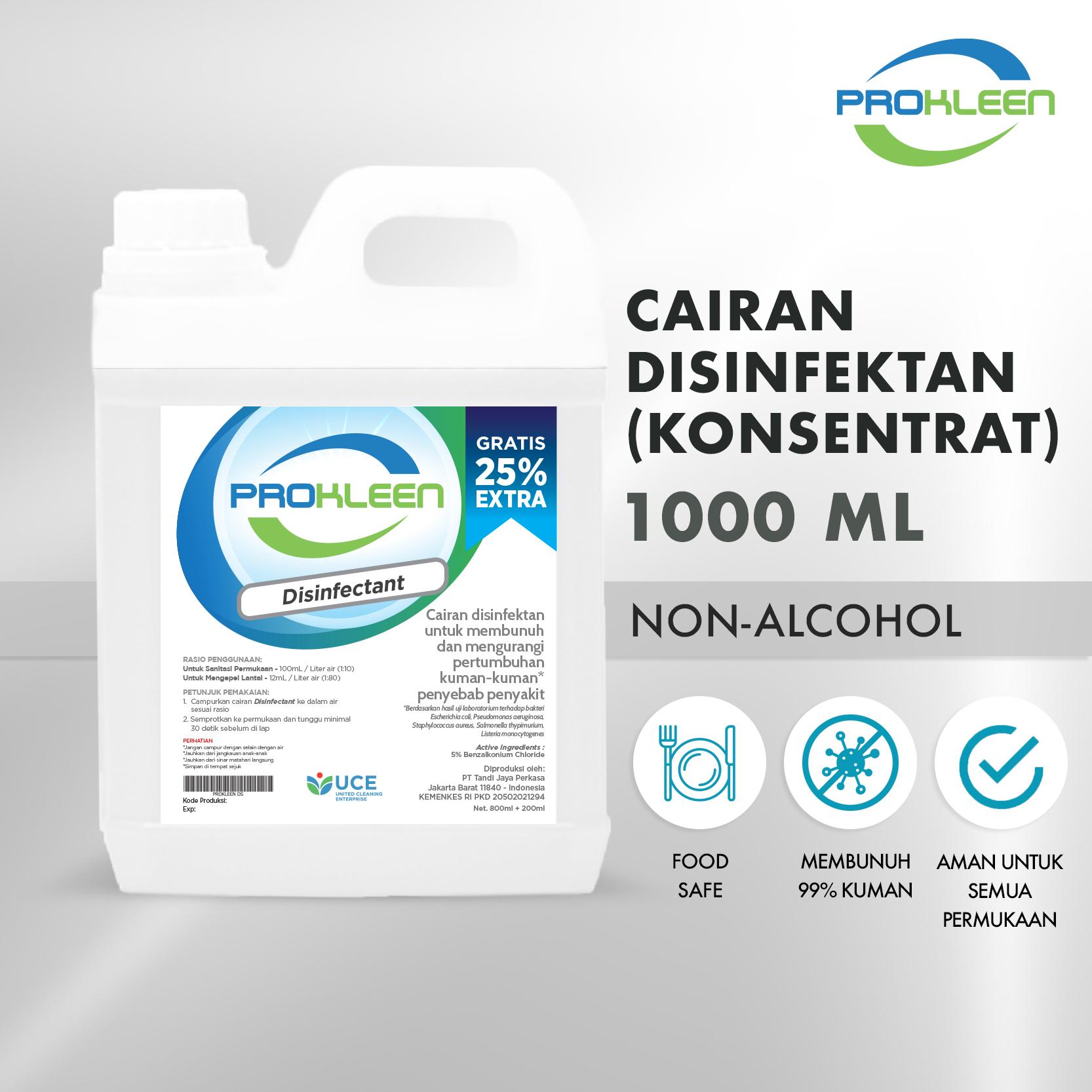 Disinfectant Konsentrat Cairan Desinfektan PROKLEEN 1000mL