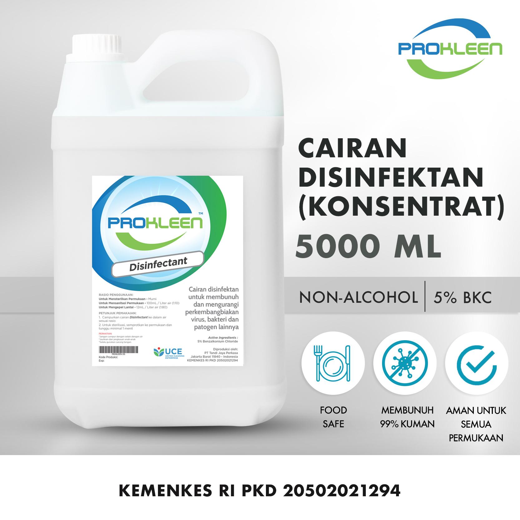 Disinfectant KONSENTRAT Antiseptik Cairan Disinfektan PROKLEEN 5L