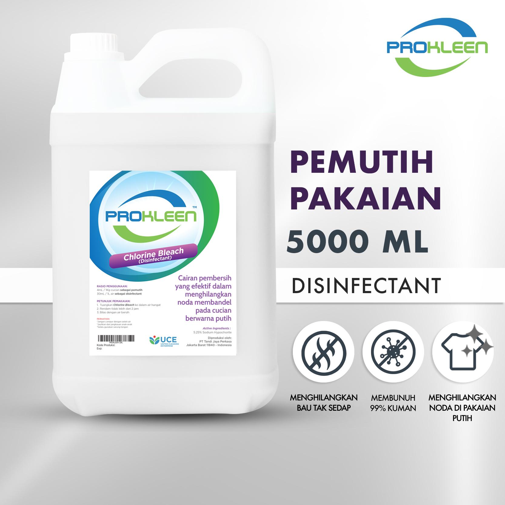 Pemutih Noda Pakaian Disinfectant PREMIUM PROKLEEN 5L KONSENTRAT