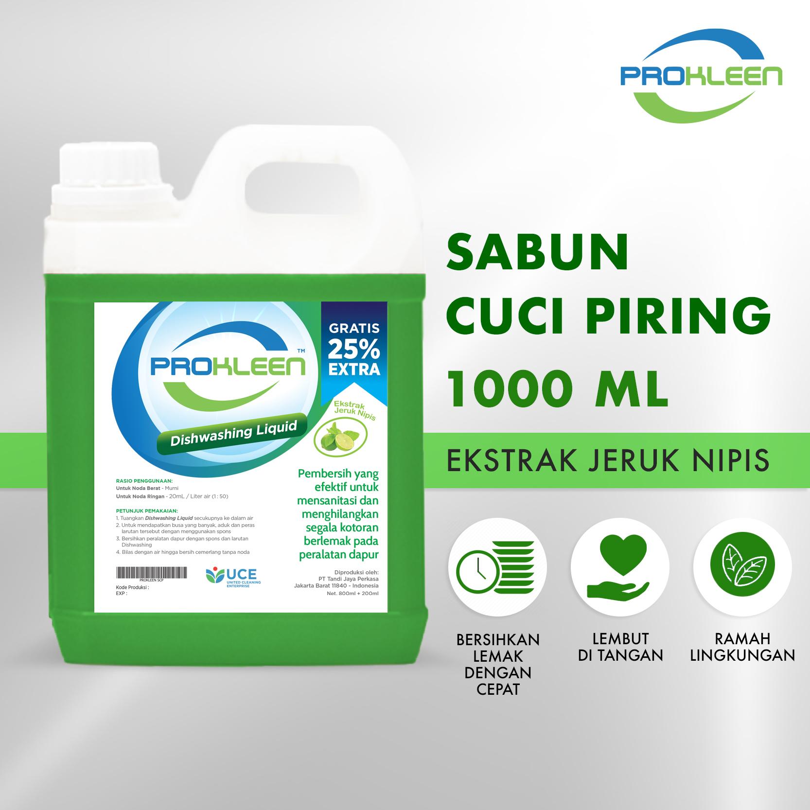 Sabun Cuci Piring DISHWASHING PROKLEEN 1000mL