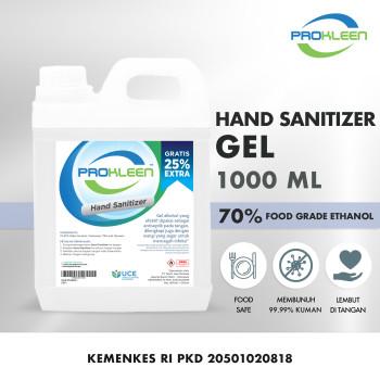 Hand Sanitizer GEL 70% Food Grade Antiseptik PROKLEEN 1L