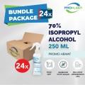 [BUNDLE] 70% Isopropyl Alkohol Antiseptik Spray 250mL - 24pcs - United Cleaning Enterprise