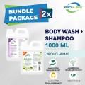 [BUNDLE] Sabun Mandi & Shampoo PREMIUM PROKLEEN 800mL - United Cleaning Enterprise
