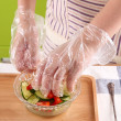 Sarung Tangan PLASTIK Food Grade Bagus Tebal Hand Gloves - United Cleaning Enterprise