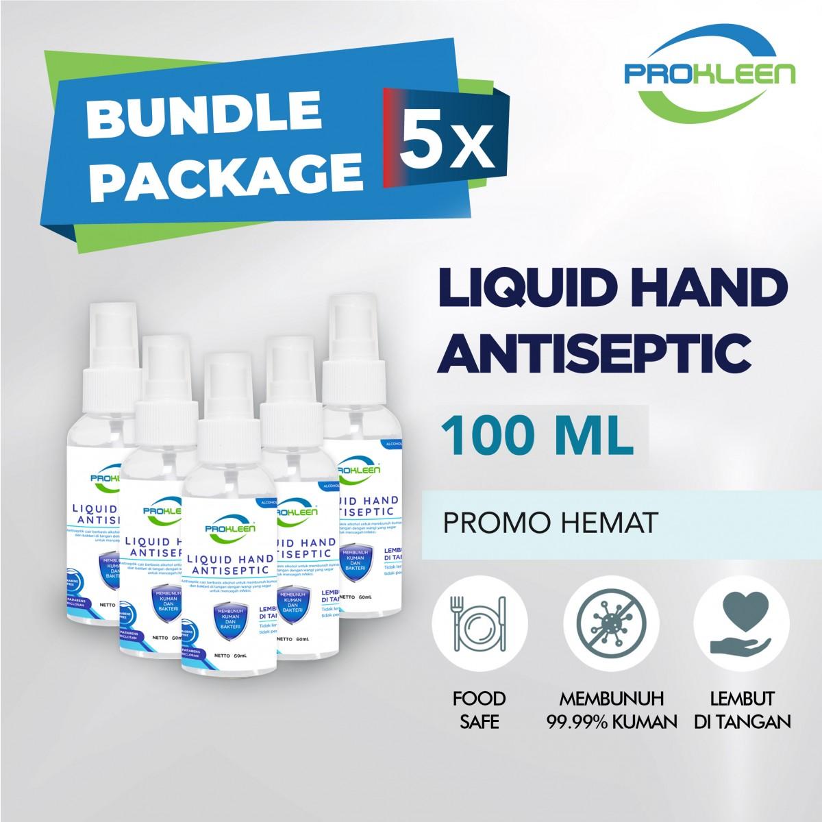 [BUNDLE] Hand Sanitizer CAIR 70% Food Grade PROKLEEN 100mL - 5pcs - United Cleaning Enterprise