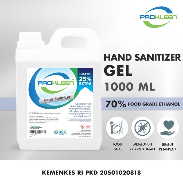Hand Sanitizer GEL 70% Food Grade Antiseptik PROKLEEN 1L - United Cleaning Enterprise