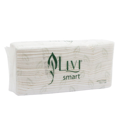 Tissue Hand Towel LIVI Smart Multifold isi 150 lembar (1ply) - United Cleaning Enterprise