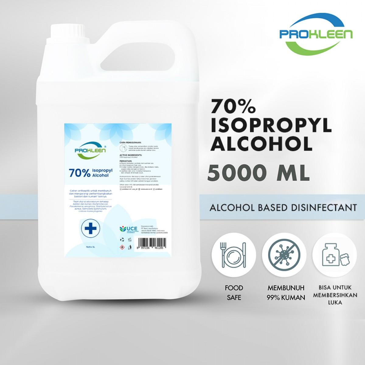 70% Isopropyl Alkohol Antiseptik Sanitizer Disinfectant 5L - United Cleaning Enterprise