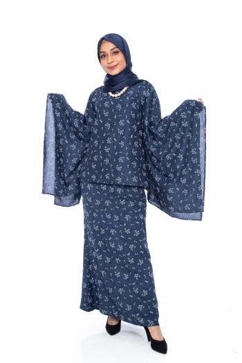Dark Blue Jasmine Kurung