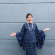 Dark Blue Jasmine Kurung  - Iman Raudah Official