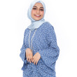 Light Blue Blouse with Pareo - Iman Raudah Official