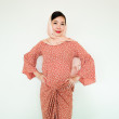 Brown Rose Blouse with Pareo  - Iman Raudah Official