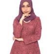 Pinkish Red Melur Kurung  - Iman Raudah Official