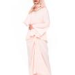 Peach Blouse with Pareo - Iman Raudah Official