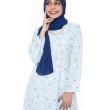 Soft Blue Dahlia Kurung - Iman Raudah Official