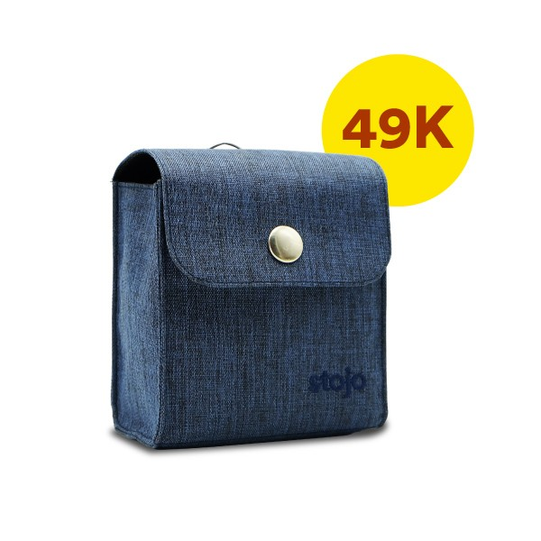 Stojo Pocket Pouch - Denim - Only IDR 49,900 each