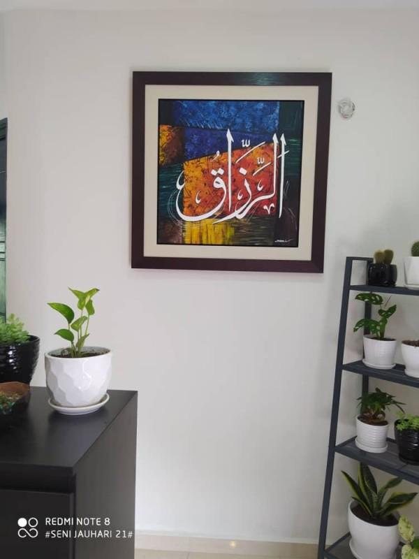 Original Oil Painting Ar Razaq - Jauhari