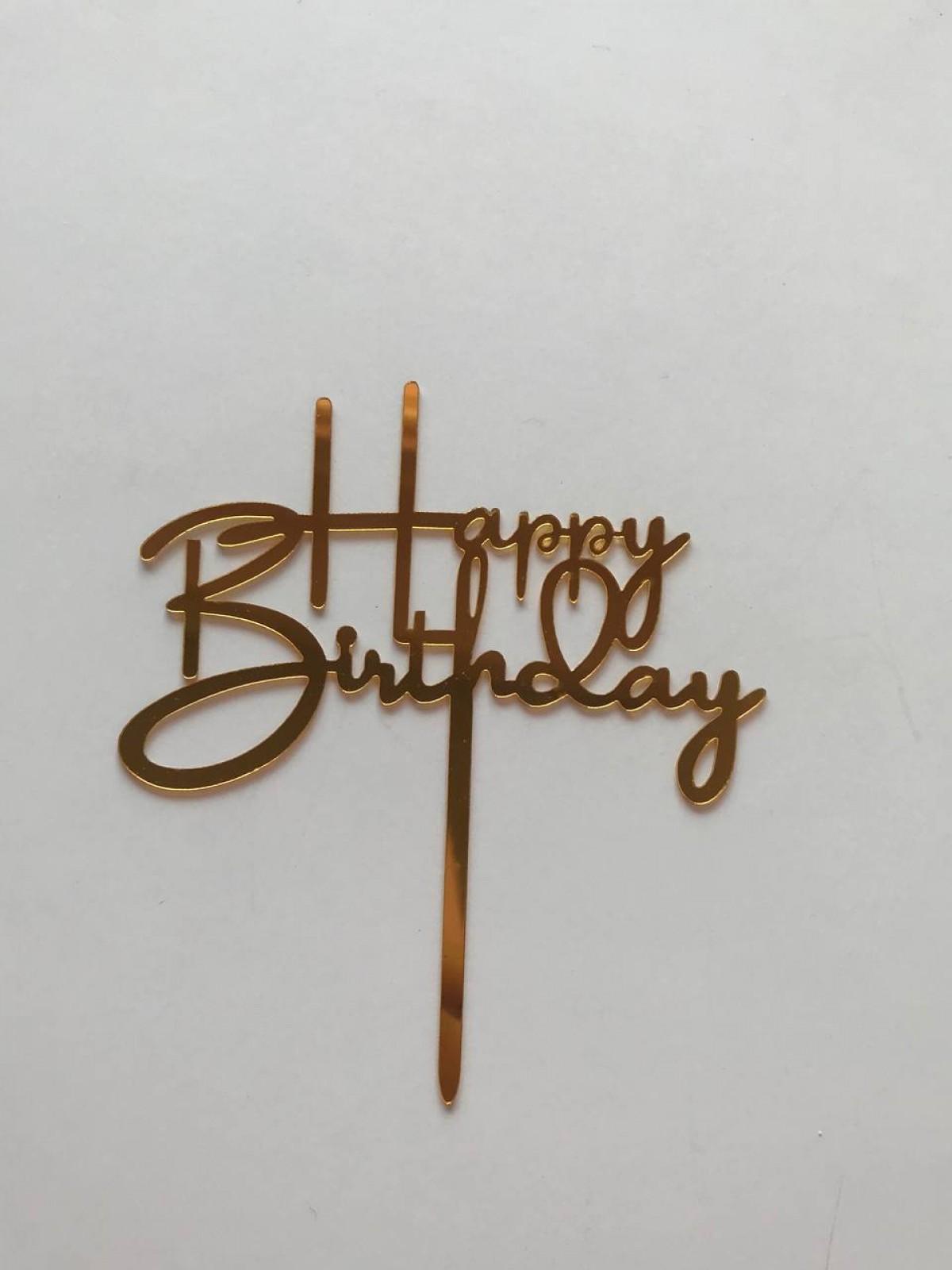 TOPPER HAPPY BIRTHDAY - RARA KITCHY