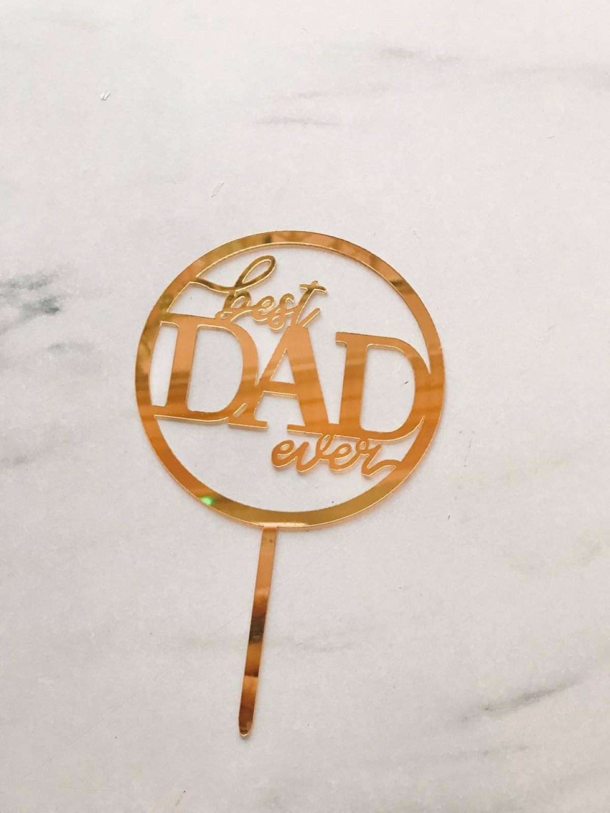 TOPPER BEST DAD ( ROUND) - RARA KITCHY
