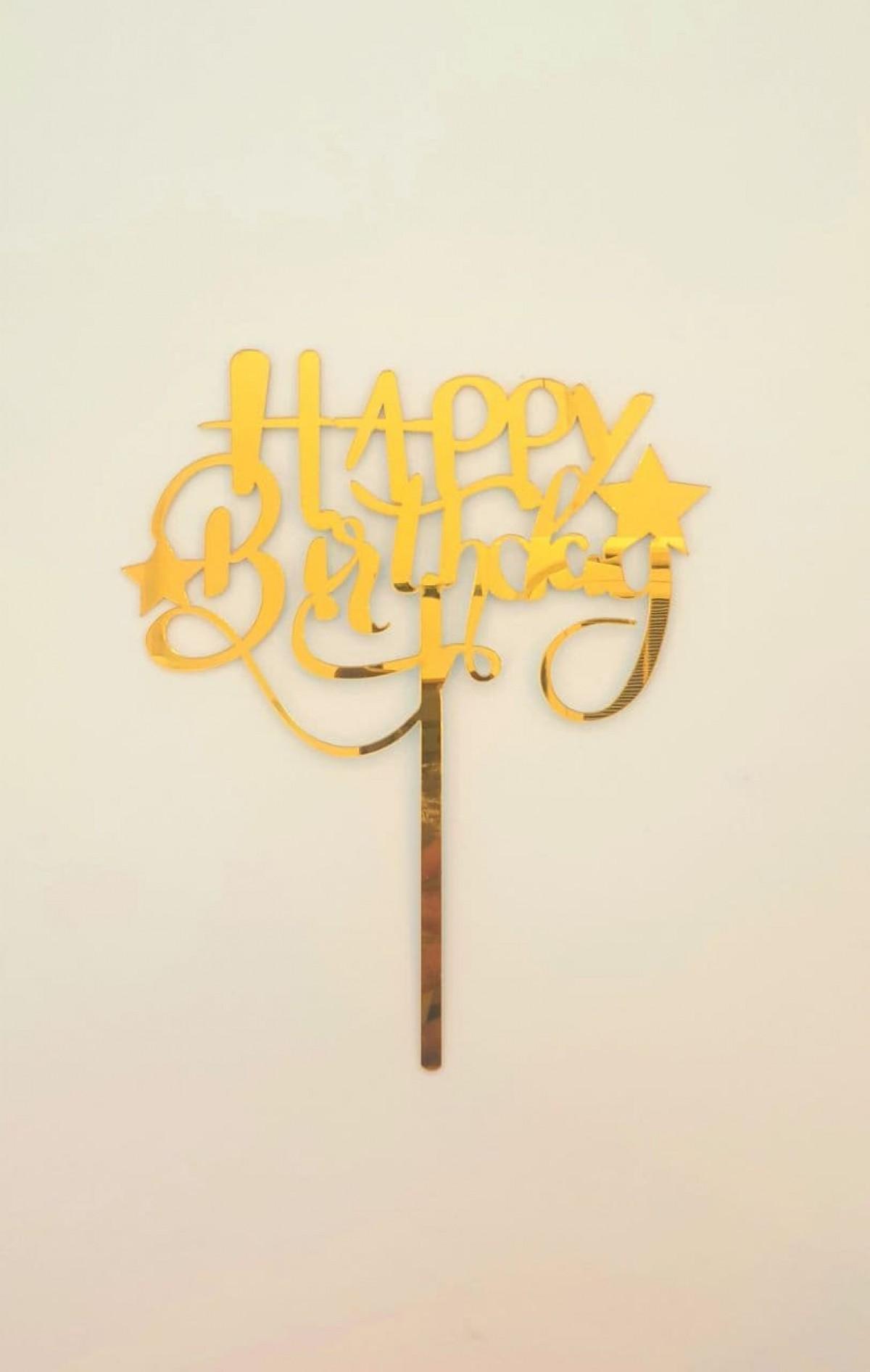 TOPPER HAPPY BIRTHDAY (STAR) - RARA KITCHY