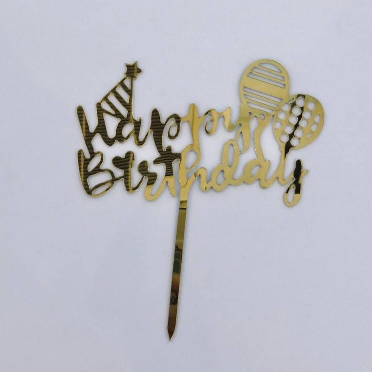 TOPPER HAPPY BIRTHDAY (BALLOON) - RARA KITCHY