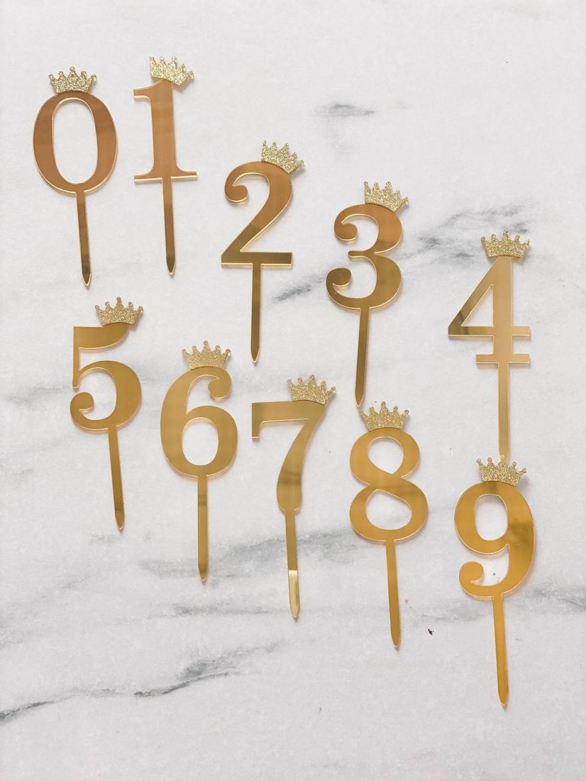 TOPPER NUMBER (CROWN) - RARA KITCHY