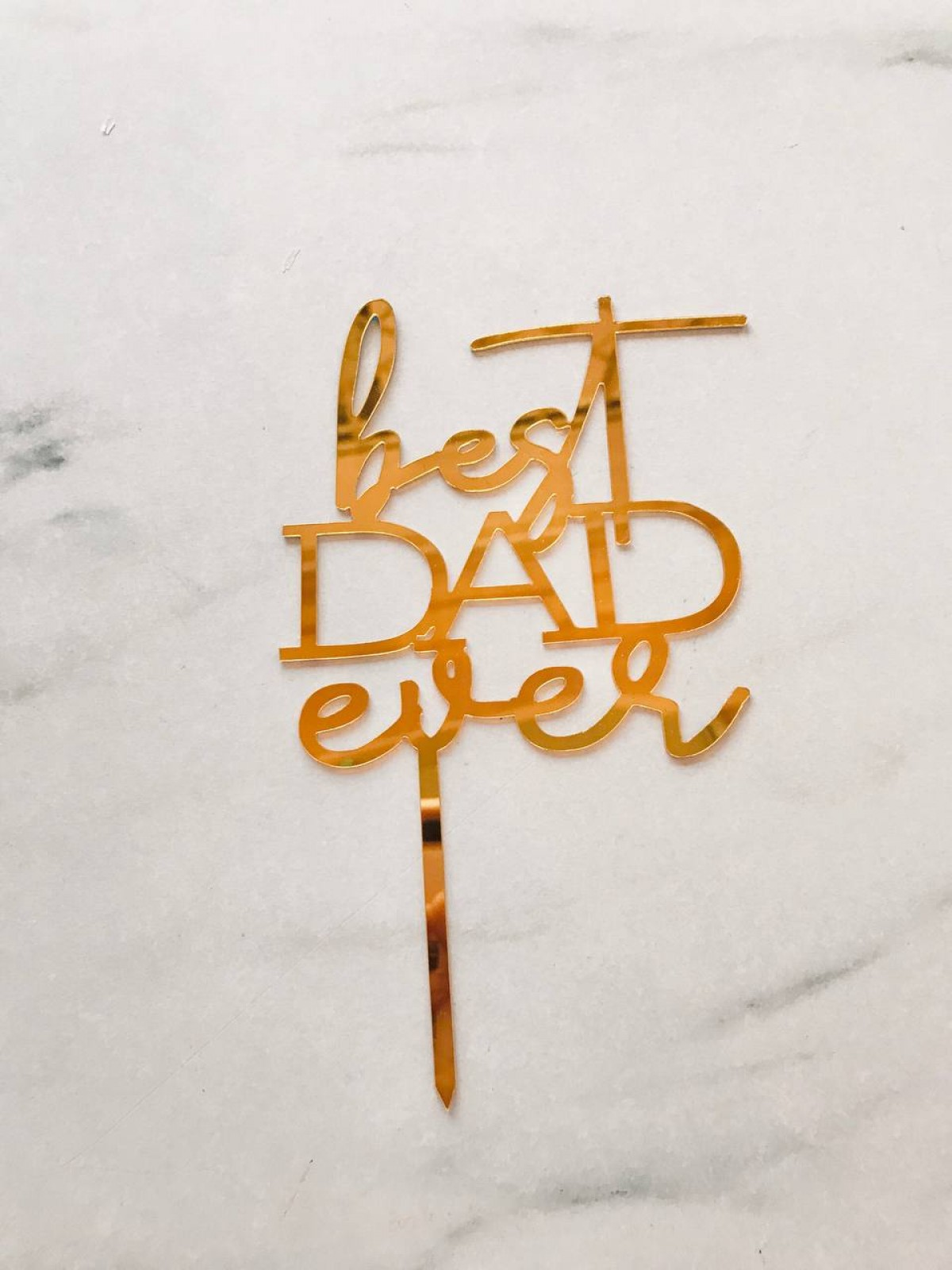 TOPPER BEST DAD EVER - RARA KITCHY