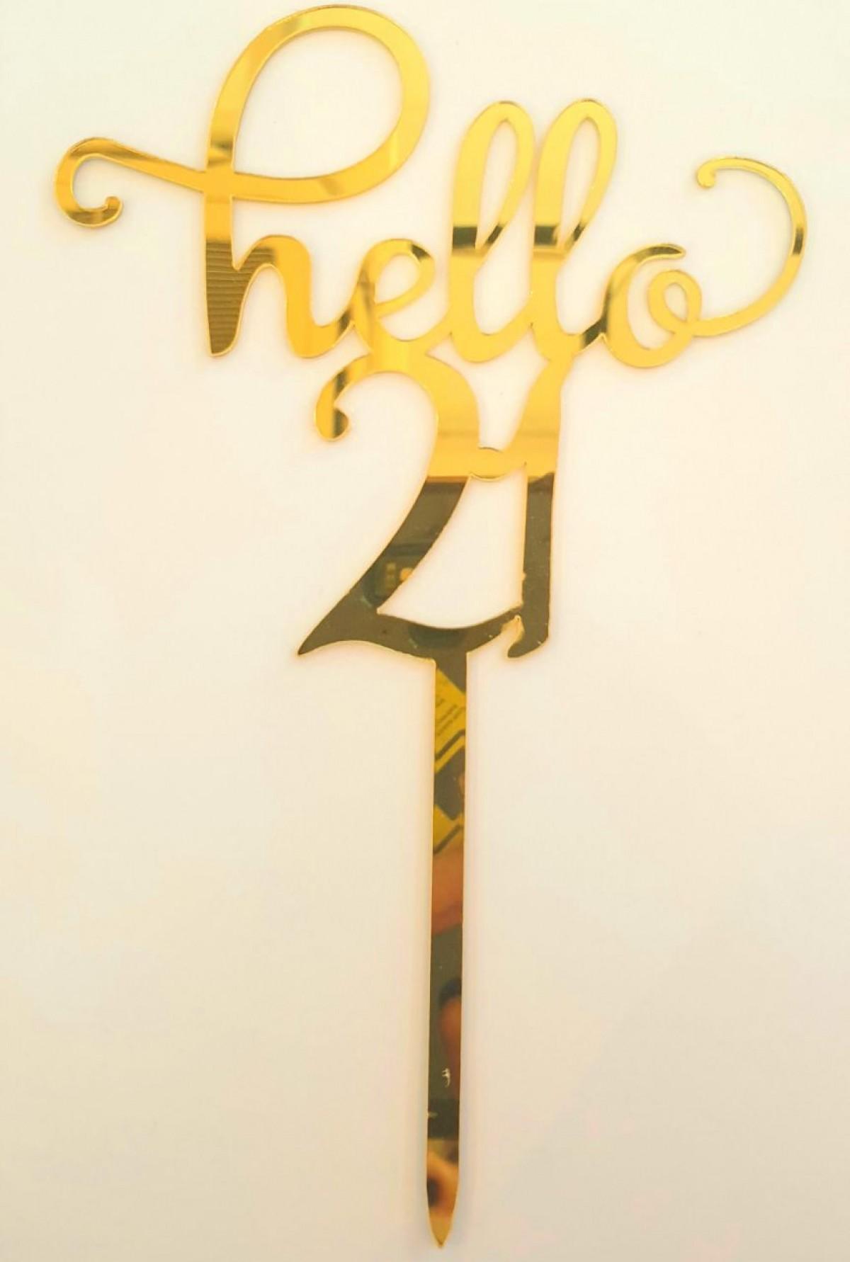 TOPPER HELLO (NUMBER) - RARA KITCHY