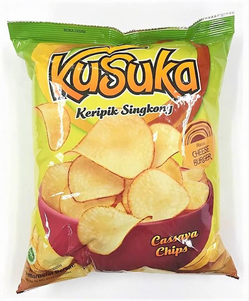 KUSUKA CASSAVA CHIPS - CHEESE BURGER 180G
