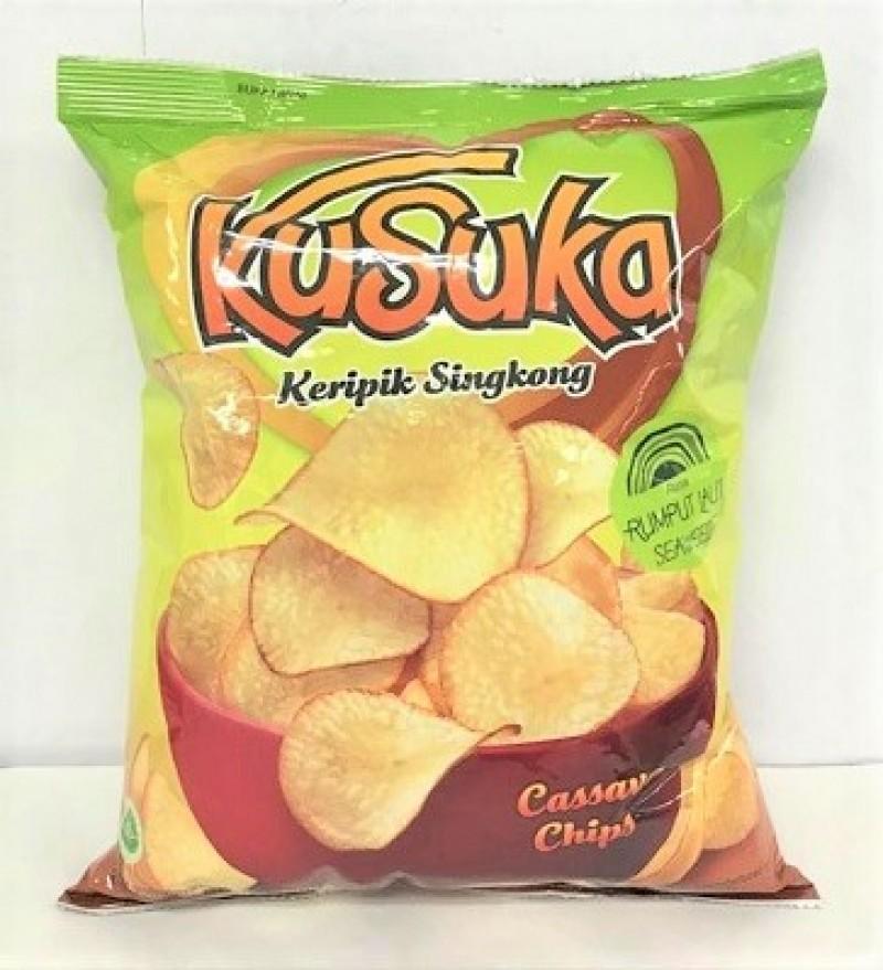 KUSUKA CASSAVA CHIPS - SEAWEED 180G