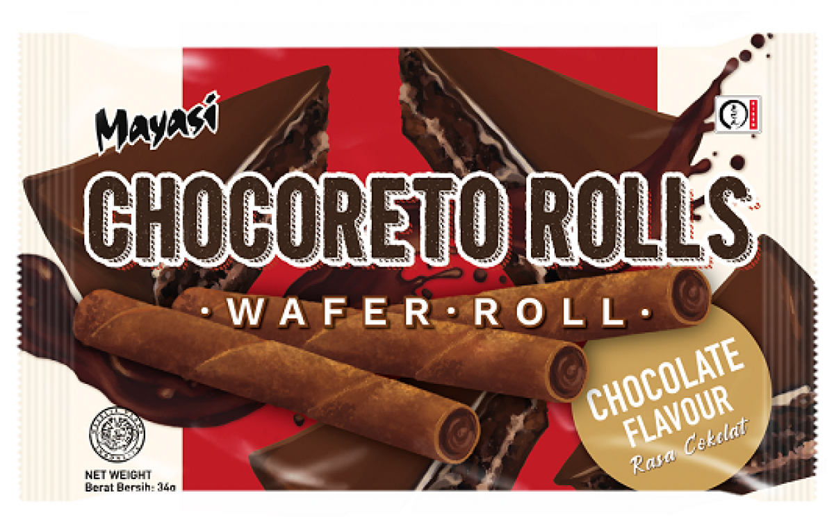 MAYASI CHOCORETO ROLLS - CHOCOLATE 34G - Kanpeki