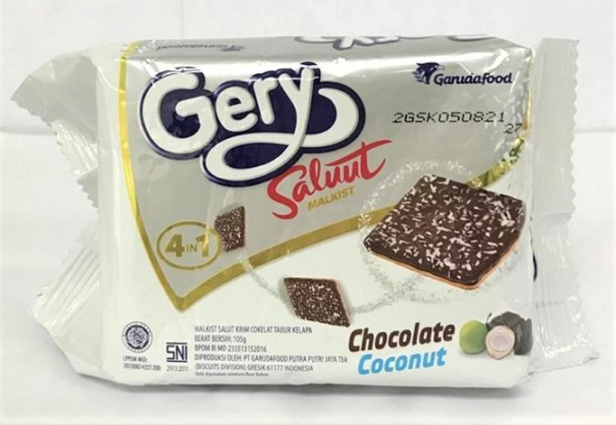 GERY SALUUT BISCUIT - 105G CHOCOLATE COCONUT - Kanpeki