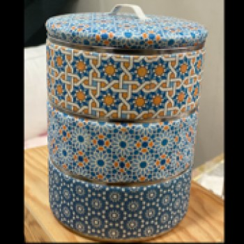 Tiffin in style Rice Paper Blue 12cm 3tier