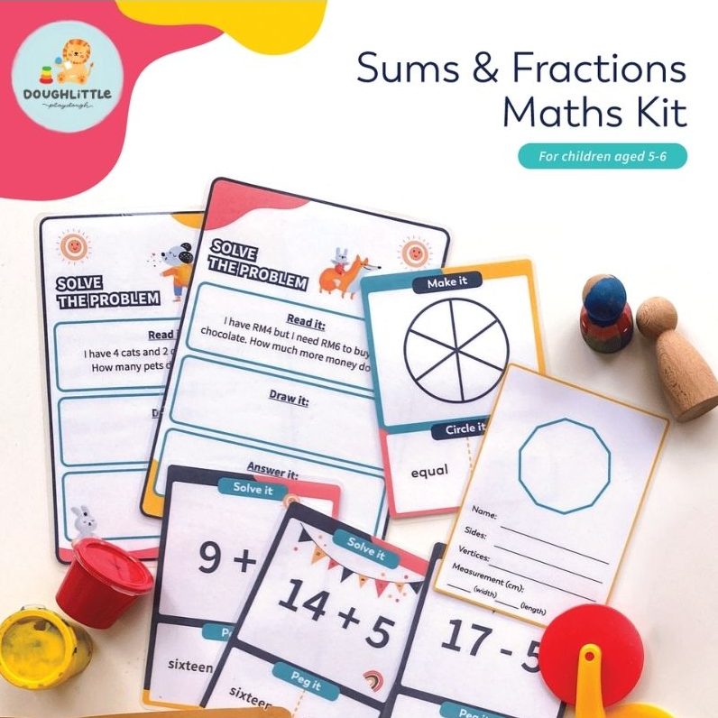 Sums & Fractions Maths Kit (Ages 5-6)