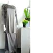 BAJU KURUNG SATIN - LIGHT GREY - Aiman Collection