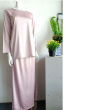 BAJU KURUNG SATIN - PINK - Aiman Collection