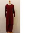 SET EAMAN LABUH - MAROON  - Aiman Collection