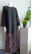 BAJU KURUNG PLAIN SKIRT BATIK - BLACK - Aiman Collection