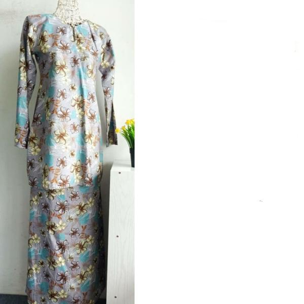 KURUNG COTTON BUNGA - C2 - Aiman Collection
