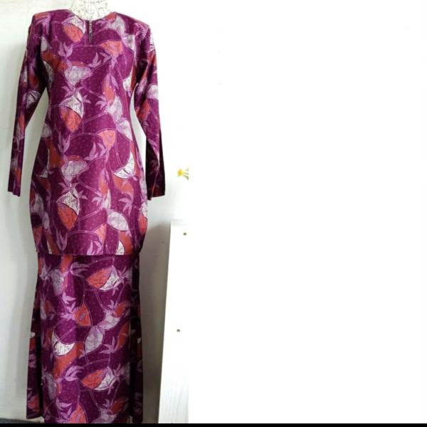 KURUNG COTTON DAUN - D3 - Aiman Collection